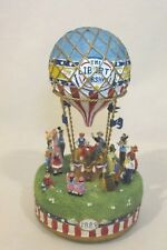 Vintage Liberty Falls Airship Hot Air Balloon Music Box 1998 6'' high