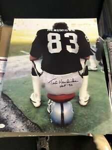 OAKLAND RAIDERS TED HENDRICKS SIGNED 16X20 PHOTO HOF 1990 JSA CERTIFIED