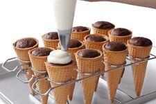 Ice Cream Waffle Cone Cupcake Baking Rack Pan Holder Decorating Kids Party
