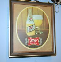 "Vintage Mid Century Miller High Life Champagne of Beer Light/Sign Bar 12"" Works"