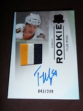 09-10 The Cup TYLER MYERS Auto 3CLR Patch RC 43/249 Winnipeg Jets L@@K