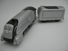 SILVER SPENCER Motorised Battery Engine Wooden Train Track  ( Brio Thomas Tomy )