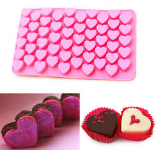 FD3133 55 Lovely Cake Chocolate Mold Ice Heart Frozen Baking Cube Cookies Soap