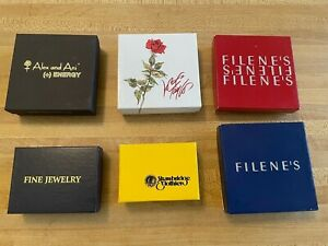 Vintage Assorted Filene's, Lord and Taylor, Strawbridge Jewelry Gift Boxes
