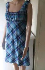 Faith Love Passion Sleeveless Dress. Purple and Blue Plaid. Size 11/12