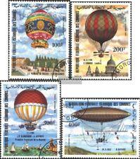 Comoras 681-684 (edición completa) usado 1983 200 años aviación