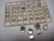 12 swarovski crystal full flatback cubes,10mm comet argent light #4840