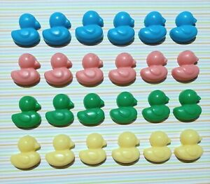 MINI DUCK SOAPS 24 Mixed Baby Shower Christening Favours - Baby Powder Fragrance
