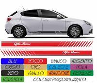 ADESIVI FASCIA ALFA ROMEO RACING GIULIETTA MITO 147 156 TUNING cod169 ADESIVO