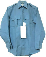 Horace Small Mens Blue Button Sentry Plus Security Work Shirt Size 15 33 New