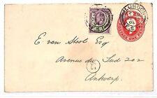 KK104 1904 London Antwerp Belgium Postal Stationery {samwells-covers}