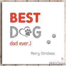 Funny Christmas Card from the Dog - Best Dog Dad Christmas Card - Dog Daddy