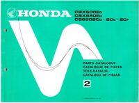 Parts List Teilekatalog für Honda CBX 650 E, CB 650 SC, RC13, Teile, 13ME5D42