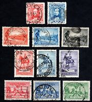 Australia - 1930 to 1936 - 4 Sets - Scott 104//161 - Used F/VF
