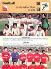 FICHE CARD: 1977 1- TUNISIE 2- IRAN CM PHOTO EQUIPE FOOTBALL 1970s