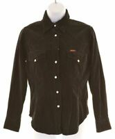 RIFLE Womens Corduroy Shirt Size 6 XS Black Cotton  LP08