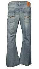 Men's LCJ Denim Flare Stretch Indie Jeans 70s Washed Bell Bottoms LC16 All Sizes