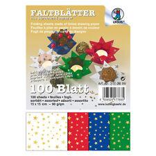 100 FaltBlätter 10X10cm IntensivFarben bunt farbig 10 Farben Bastelpapier