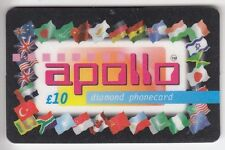 EUROPE  TELECARTE / PHONECARD .. U.K 10£ APOLLO DRAPEAU FLAG STD DIAMOND +N°