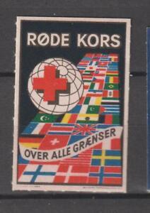 Denmark Poster Stamp Reklamemarke Seal Dansk Rode Kors Red Cross