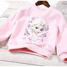 Baby Child Kid Girl 100% Cotton Pink Long Sleeve T-Shirt Hoodie Pullover Sweater