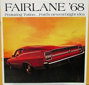 1968 Ford Fairlane 500 Torino GT Wagon XL Color Sales Brochure Rev 12 67
