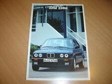 CATALOGUE BMW 324d & 324td de 1987