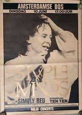 SIMPLE MINDS 1986 original HUGE tour Poster RaRe GOLD LETTERS
