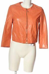 MASSIMO DUTTI Lederjacke hellorange Casual-Look Damen Gr. DE 38 Jacke Jacket