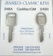 Rare Eldorado Original NOS A&B Cadillac/GM Badge Nickel Key Set B48A & B49B