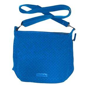 Vera Bradley BAHAMA BAY Carson Mini Hobo Crossbody Bag Blue Microfiber Purse NWT