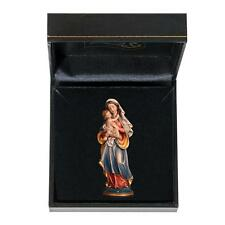 Virgin Mary with Infant Jesus - Woodcarving - Gift Box - German Italian Art
