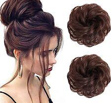 Messy Hair Bun Curly Wavy