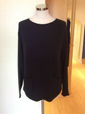 Monari Sweater Size 10 BNWT Navy With Pockets To Front RRP £80 NOW £36