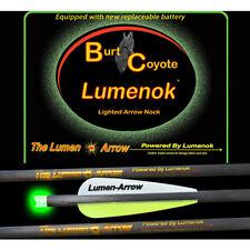 "Burt Coyote Lumenok 22"" Carbon Bolt Green Crescent 3pk 00311 BECC223G Crossbow"