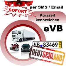 Überführungskennzeichen 5-Tagesversicherung Alle KFZ Deutschland eVB rote Nummer