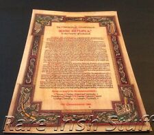 1916 Irish Proclamation Rare 50th Anniversary With Celtic Design IRA - Print