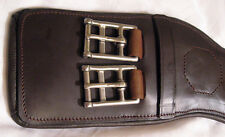 Delfina Anatomical Shoulder Relief Brown Leather Dressage English Girth 22""