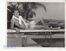 Louis Jourdan barechested VINTAGE Photo