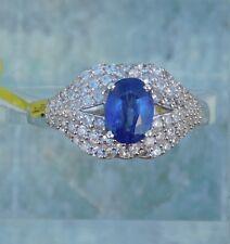 Masoala Sapphire, Natural Zircon Lips RING Platinum/Silver size 9 TGW 2.79 cts