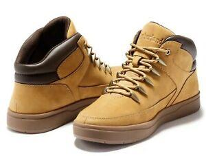 Timberland Mens Davis Square Mid Hiker Hiking Walking Boots Wheat Nubuck, Size 8