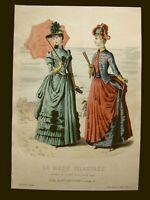 Mode Damenmode No 1, franz Farblithographie datiert 1888