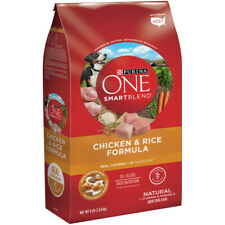 Purina  ONE SMARTBLEND  Chicken and Rice  Dry  Dog  Food  8 lb.