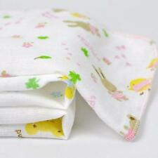 3pcs New Baby Kids Gauze Muslin Comfort Square Bath Wash Cloths Bibs Towel LA
