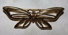 TRIFARI signed GOLD TONE BUTTERFLY PIN-NICE AND LONG IN LENGTH  !!!!!!!!!!!!!!!!