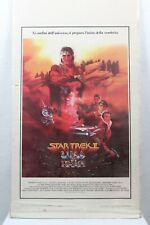 Star Trek II Wrath Of Kahn 1983 Italian Movie Poster Rare Vintage Collectable