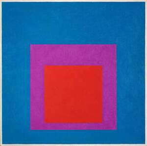 Josef Albers Homage To The Square Red Brass  Giclee Paper Print Poster