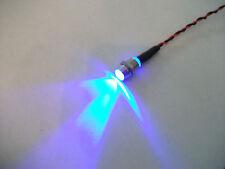 FAKE ALARM,  FLASHING BLUE LED 12V WITH CHROME BEZEL