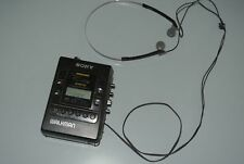 VINTAGE SONY WALKMAN WM-F2085 AM/FM STEREO RADIO CASSETTE TAPE PLAYER WITH ALARM