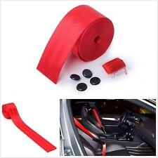 Universal Car Red Safty Seat Belt 3 Bolt Point Retractable Adjustable 4.8x380cm